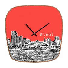 Bird Ave Miami Wall Clock