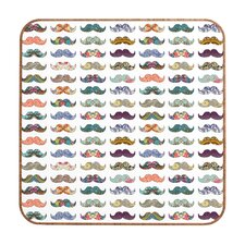 Mustache Mania by Bianca Green Framed Graphic Art Plaque