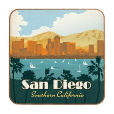 San Diego by Anderson Design Group Framed Vintage Advertisement Plaque