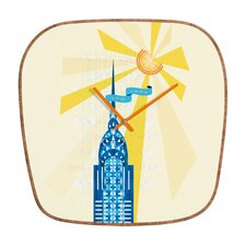 <strong>DENY Designs</strong> Jennifer Hill NYC Chrysler Building Wall Clock