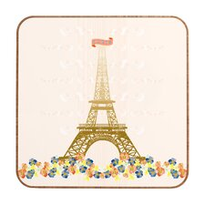 Paris Eiffel Tower by Jennifer Hill Framed Graphic Art Plaque