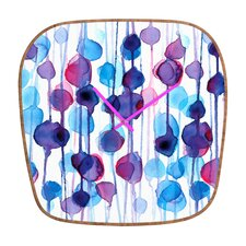CMYKaren Abstract Watercolor Wall Clock
