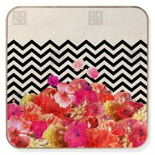 Bianca Green Chevron Flora Jewelry Box Replacement Cover