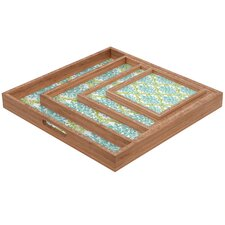 Rebekah Ginda Design Lovely Damask Square Tray