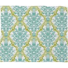 Rebekah Ginda Design Lovely Damask Polyester Fleece Throw Blanket