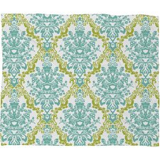 Rebekah Ginda Design Lovely Damask Polyesterrr Fleece Throw Blanket