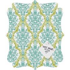 Rebekah Ginda Design Lovely Damask Quatrefoil Magnet Memo Board