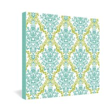 <strong>DENY Designs</strong> Rebekah Ginda Design Lovely Damask Gallery Wrapped Canvas