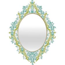 <strong>DENY Designs</strong> Rebekah Ginda Design Lovely Damask Baroque Mirror