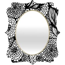 Julia Da Rocha Bouquet of Flowers Love Quatrefoil Mirror