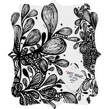 Julia Da Rocha Wild Leaves Quatrefoil Magnet Memo Board