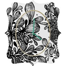 Julia Da Rocha Wild Leaves Clock