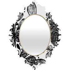 Julia Da Rocha Wild Leaves Baroque Mirror