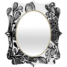 <strong>DENY Designs</strong> Julia Da Rocha Wild Leaves Quatrefoil Mirror