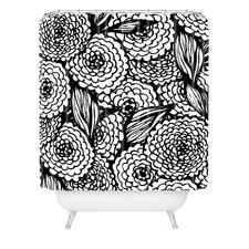 Julia Da Rocha Bouquet of Flowers Love Woven Polyesterrr Shower Curtain