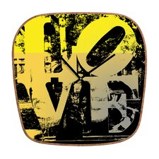 <strong>DENY Designs</strong> Amy Smith Philadelphia Love Wall Clock