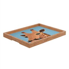<strong>DENY Designs</strong> Mandy Hazell Gentleman Giraffe Rectangular Tray