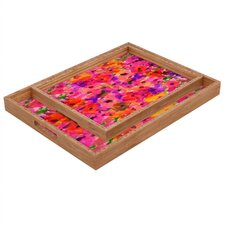 Amy Sia Fleur Rouge Rectangular Tray