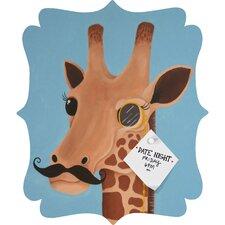 Mandy Hazell Gentleman Giraffe Quatrefoil Magnet Board