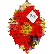 Irena Orlov Poppy Poetry 2 Baroque Magnet Board