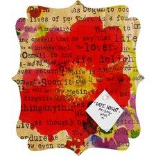 Irena Orlov Poppy Poetry 2 Quatrefoil Memo Board