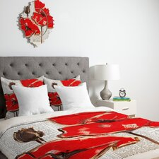 <strong>DENY Designs</strong> Irena Orlov Red Perfection Duvet Cover Collection