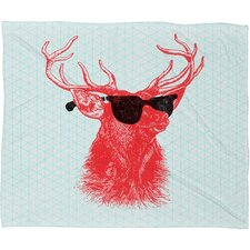 <strong>DENY Designs</strong> Nick Nelson Young Buck Polyesterrr Fleece Throw Blanket
