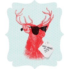 Nick Nelson Young Buck Quatrefoil Magnet Memo Board