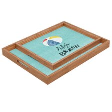 Nick Nelson Lifes A Beach Rectangular Tray