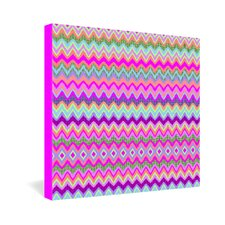 <strong>DENY Designs</strong> Amy Sia Chevron 2 Gallery Wrapped Canvas