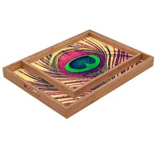 Shannon Clark Peacock 2 Rectangular Tray