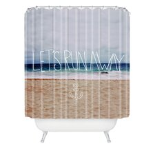 <strong>DENY Designs</strong> Leah Flores Lets Run Away III Woven Polyesterrr Shower Curtain