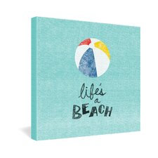 <strong>DENY Designs</strong> Nick Nelson Lifes A Beach Gallery Wrapped Canvas