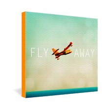 Happee Monkee Fly Away Gallery Wrapped Canvas