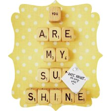 Happee Monkee You Are My Sunshine Quatrefoil Magnet Board