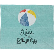 <strong>DENY Designs</strong> Nick Nelson Lifes A Beach Polyesterrr Fleece Throw Blanket