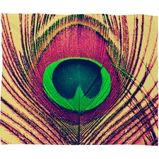 Shannon Clark Peacock 2 Polyesterr Fleece Throw Blanket
