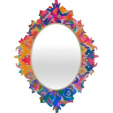 Amy Sia Watercolour Ikat 3 Baroque Mirror