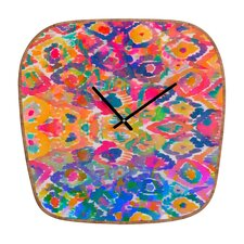 Amy Sia Watercolour Ikat 3 Clock