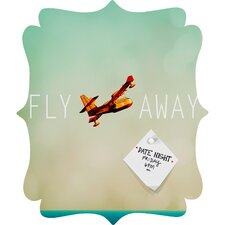 <strong>DENY Designs</strong> Happee Monkee Fly Away Quatrefoil Magnet Board