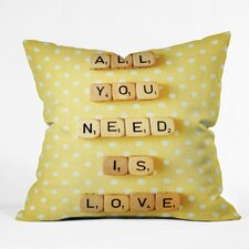 Happee Monkee All You Need Is Love 1 Throw Pillow