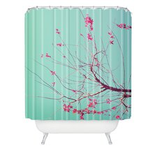 <strong>DENY Designs</strong> Happee Monkee Red Stars Polyesterrr Shower Curtain