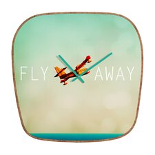 <strong>DENY Designs</strong> Happee Monkee Fly Away Wall Clock