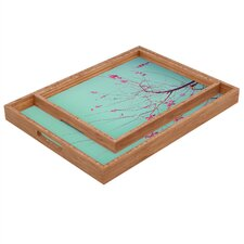 Happee Monkee Red Stars Rectangular Tray