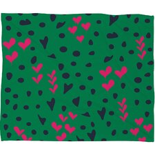<strong>DENY Designs</strong> Vy La Animal Love Polyesterr Fleece Throw Blanket