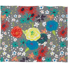 Vy La Bloomimg Love Polyesterr Fleece Throw Blanket