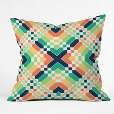 Budi Kwan Retrographic Rainbow Throw Pillow
