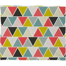 Heather Dutton Triangulum Polyesterrr Fleece Throw Blanket