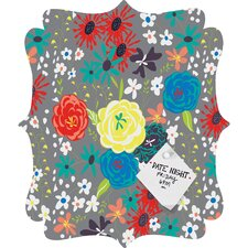 Vy La Bloomimg Love Quatrefoil Bulletin Board