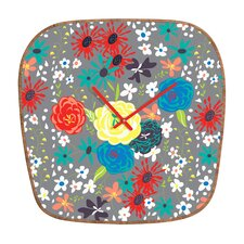 <strong>DENY Designs</strong> Vy La Blooming Love Wall Clock